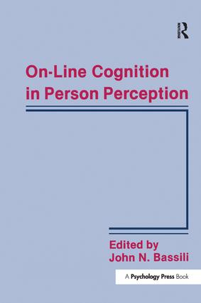 On-line Cognition in Person Perception