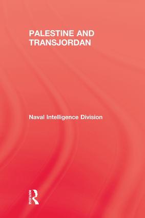Palestine & Transjordan: 1st Edition (Paperback) book cover
