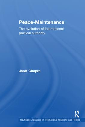 Peace Maintenance: The Evolution of International Political Economy book cover