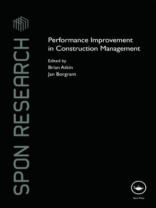 Performance Improvement in Construction Management book cover