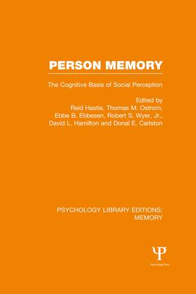 Person Memory (PLE: Memory): The Cognitive Basis of Social Perception book cover