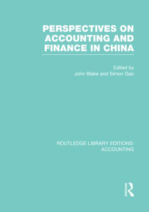 Perspectives on Accounting and Finance in China (RLE Accounting): 1st Edition (Paperback) book cover