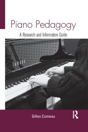 Piano Pedagogy: A Research and Information Guide book cover