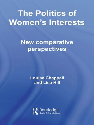 The Politics of Women's Interests: New Comparative Perspectives, 1st Edition (Paperback) book cover