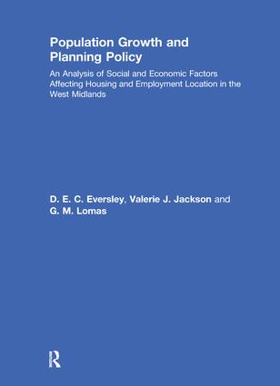 Population Growth and Planning Policy: Housing and Employment Location in the West Midlands, 1st Edition (Paperback) book cover