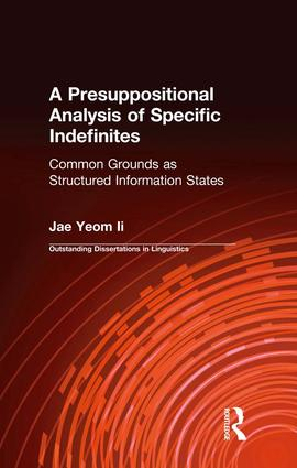 A Presuppositional Analysis of Specific Indefinites