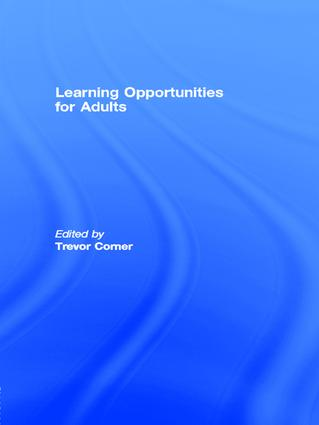 Learning Opportunities for Adults book cover
