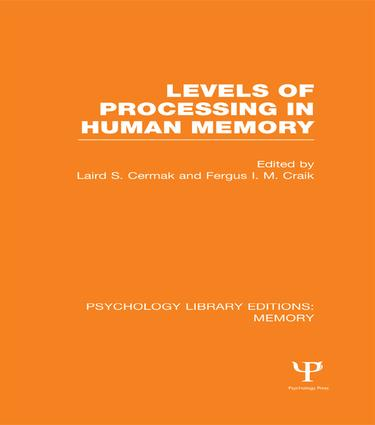 Levels of Processing in Human Memory (PLE: Memory) book cover