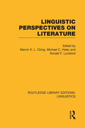 Linguistic Perspectives on Literature: 1st Edition (Paperback) book cover