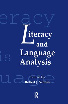 Literacy and Language Analysis: 1st Edition (Paperback) book cover