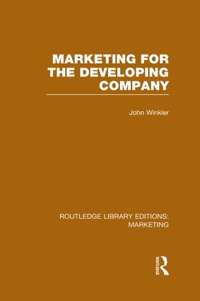 Marketing for the Developing Company (RLE Marketing) book cover