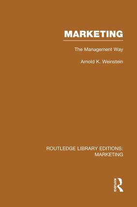 Marketing (RLE Marketing): The Management Way, 1st Edition (Paperback) book cover