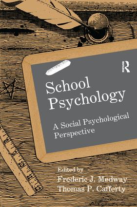 School Psychology: A Social Psychological Perspective book cover