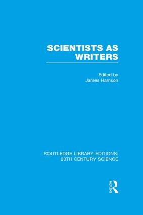 Scientists as Writers: 1st Edition (Paperback) book cover