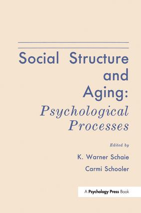 Social Structure and Aging: Psychological Processes (e-Book) book cover