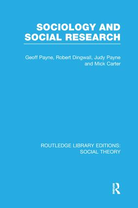 Sociology and Social Research (RLE Social Theory) book cover