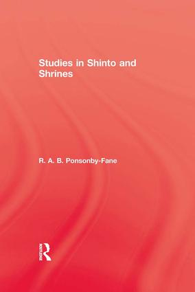 Studies In Shinto & Shrines: 1st Edition (Paperback) book cover