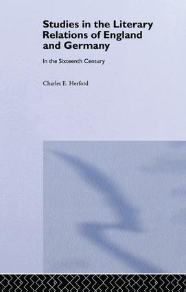 Studies in the Literary Relations of England and Germany: In the Sixteenth Century, 1st Edition (Paperback) book cover