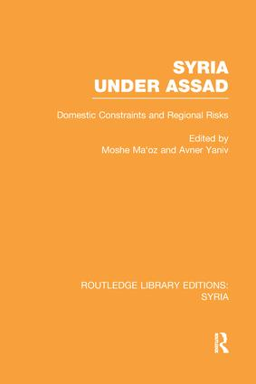Syria Under Assad: Domestic Constraints and Regional Risks book cover