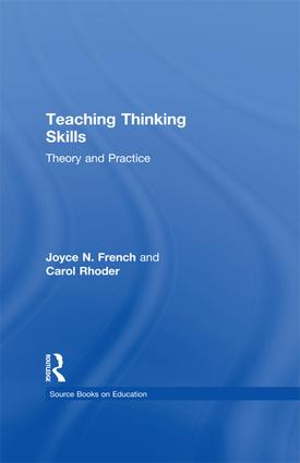 Teaching Thinking Skills: Theory & Practice book cover