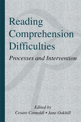 Reading Comprehension Difficulties: Processes and Intervention, 1st Edition (Paperback) book cover