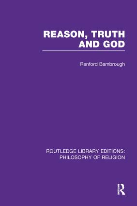 Reason, Truth and God book cover
