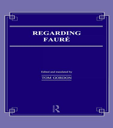 Regarding Faure book cover