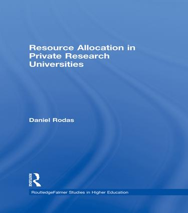 Resource Allocation in Private Research Universities: 1st Edition (Paperback) book cover