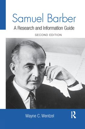 Samuel Barber: A Research and Information Guide book cover