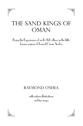 Sand Kings Of Oman: 1st Edition (Paperback) book cover