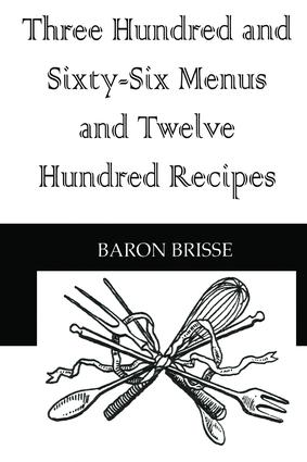 Three Hundred & Sixty Six Menus: 1st Edition (Paperback) book cover