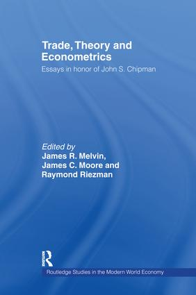 Trade, Theory and Econometrics: 1st Edition (Paperback) book cover