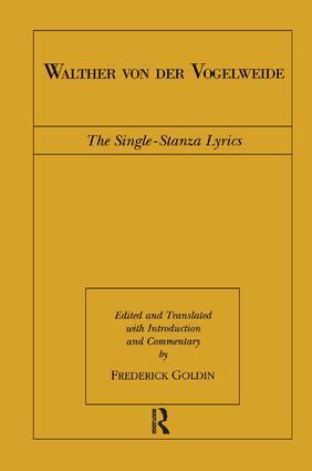 Walther von der Vogelweide: The Single-Stanza Lyrics book cover