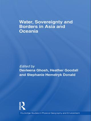 Water, Sovereignty and Borders in Asia and Oceania (Paperback) book cover