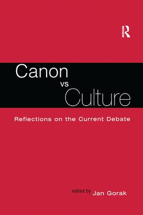 Canon Vs. Culture: Reflections on the Current Debate book cover
