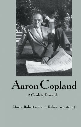 Aaron Copland: A Guide to Research book cover