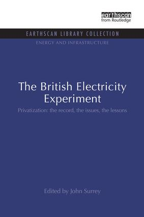 The British Electricity Experiment: Privatization: the record, the issues, the lessons book cover