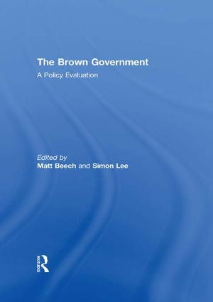 The Brown Government: A Policy Evaluation book cover