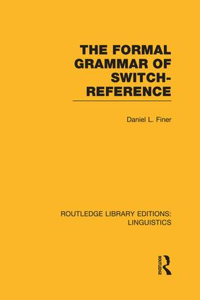 The Formal Grammar of Switch-Reference book cover