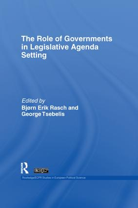 The Role of Governments in Legislative Agenda Setting book cover