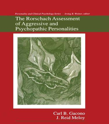The Rorschach Assessment of Aggressive and Psychopathic Personalities book cover