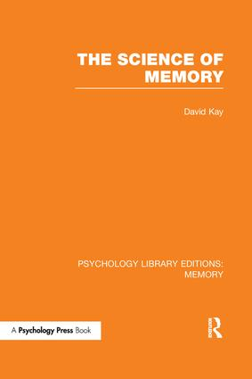 The Science of Memory (PLE: Memory) book cover
