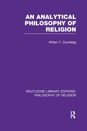 An Analytical Philosophy of Religion: 1st Edition (Paperback) book cover