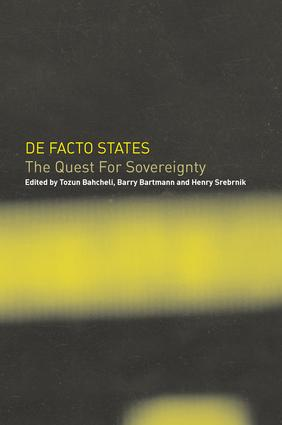 De Facto States: The Quest for Sovereignty, 1st Edition (Paperback) book cover