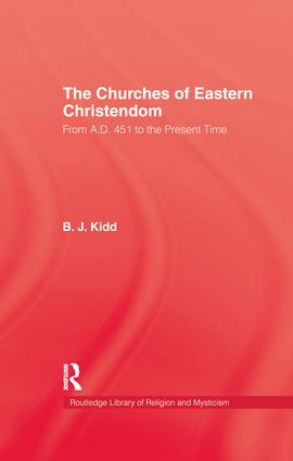 Churches Of Eastern Christendom: 1st Edition (Paperback) book cover