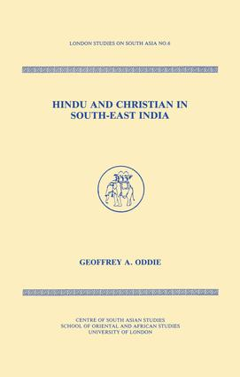 Hindu and Christian in South-East India: 1st Edition (Paperback) book cover