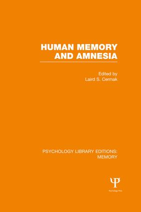 Human Memory and Amnesia (PLE: Memory): 1st Edition (Paperback) book cover