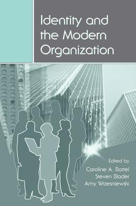 Identity and the Modern Organization book cover