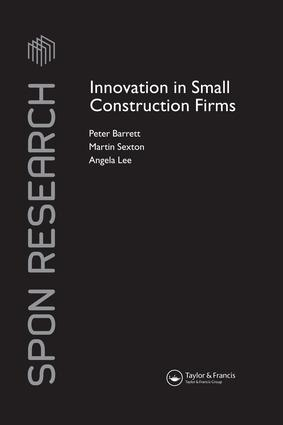 Innovation in Small Construction Firms book cover