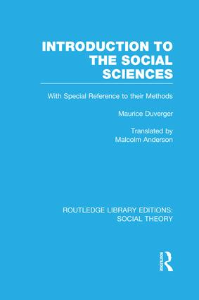 Introduction to the Social Sciences (RLE Social Theory): 1st Edition (Paperback) book cover